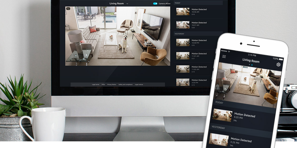 Amazon Cloud Cam, camera thông minh Full HD 1080p, hỗ trợ Alexa, lưu Cloud  miễn phí