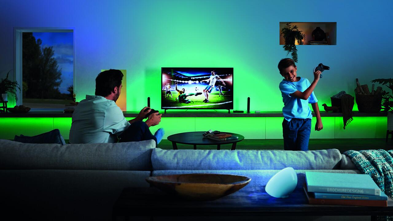 Giai tri voi Philips HUE Play HDMI Sync